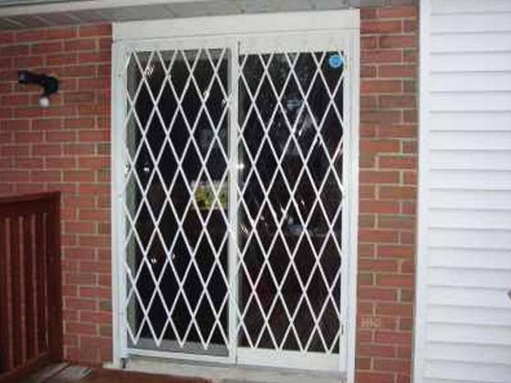 Secure Sliding And French Patio Doors With Folding Security Gate